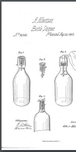Figure 5 - 1862 Coiled spring closure patent illustration