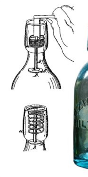 Figure 1 - Albertson's patent drawings and bottles