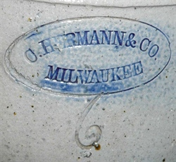Charles Hermann &Co, Milwaukee Stoneware: Short History 1856-86