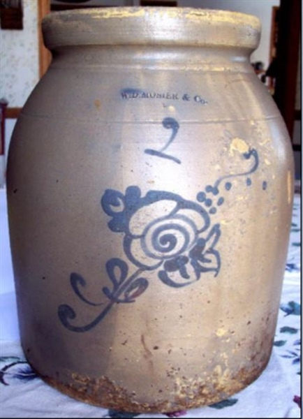 W D Mosier & Co decorated jar