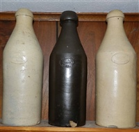 Gunther  Berns quart bottles  one with inverted stamp