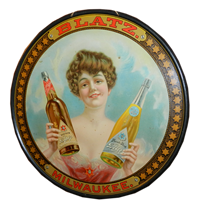 Val Blatz Advertising Tray